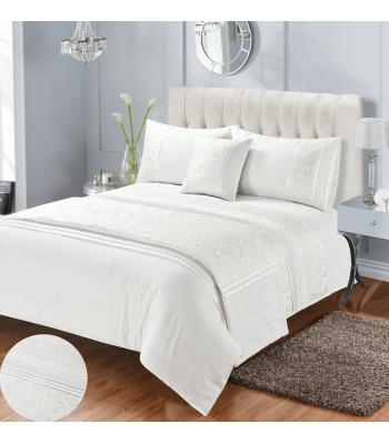 Diana Cream Embroidered Duvet Cover