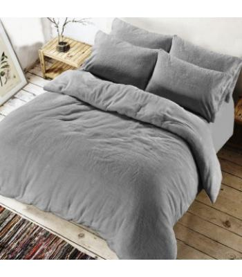 Teddy Duvet cover Silver