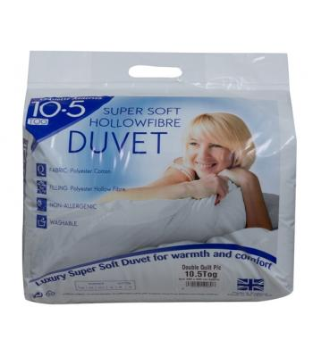 10.5 tog Duvet hollowfibre Polyester cotton