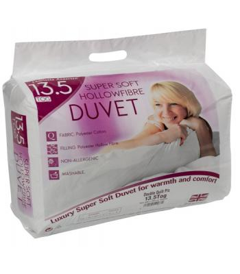 13.5 tog Duvet Polyester cotton hollowfibre